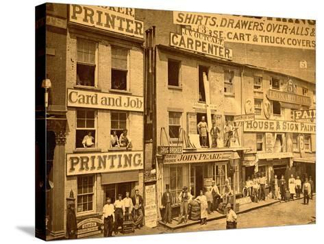 Lower Hudson Street, N.Y.C., 1865--Stretched Canvas Print