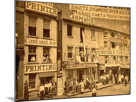 Lower Hudson Street, N.Y.C., 1865--Mounted Photographic Print