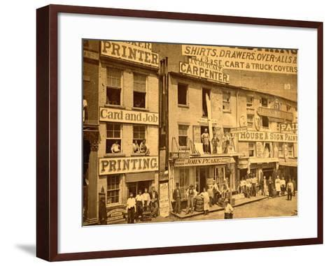 Lower Hudson Street, N.Y.C., 1865--Framed Art Print