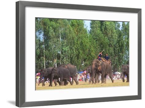 Procession, Elephant Round-Up, Surin, Thailand--Framed Art Print