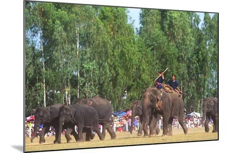 Procession, Elephant Round-Up, Surin, Thailand--Mounted Photographic Print