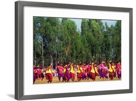 Procession, Elephant Round-Up, Surin, Thailand--Framed Art Print