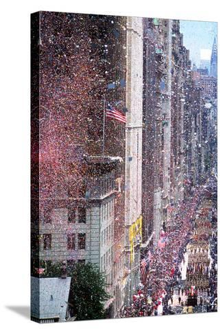 Ticker Tape Parade, New York, New York--Stretched Canvas Print