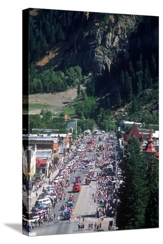Parade, July 4th, Ouray, Colorado--Stretched Canvas Print