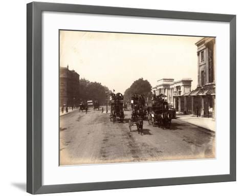 Hyde Park Corner, London, C.1885--Framed Art Print