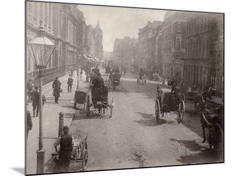 Piccadilly, Looking East, London--Mounted Photographic Print