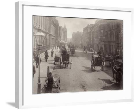 Piccadilly, Looking East, London--Framed Art Print