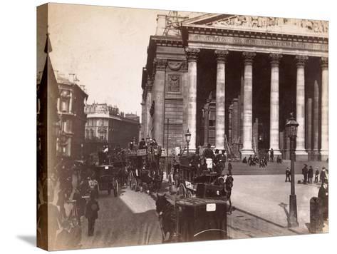 Royal Exchange, London, C.1885--Stretched Canvas Print
