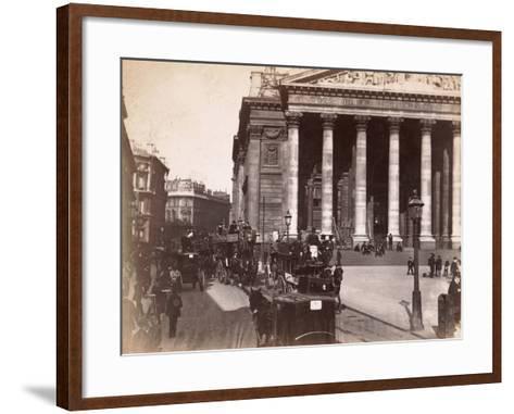 Royal Exchange, London, C.1885--Framed Art Print
