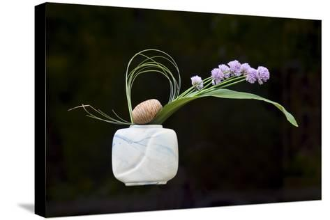 Ikebana, the Art of Flower Arrangement--Stretched Canvas Print