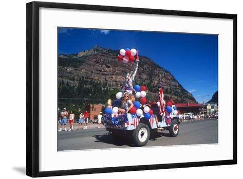 Parade, July 4th, Ouray, Colorado--Framed Art Print
