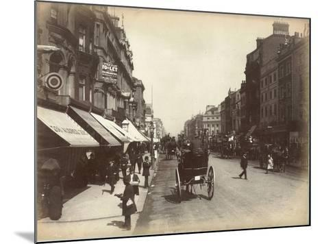 Oxford Street, London, C.1885--Mounted Photographic Print