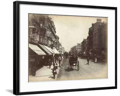 Oxford Street, London, C.1885--Framed Art Print