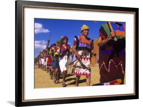 Inti Raymi, Incan Celebration, Cusco, Peru--Framed Art Print