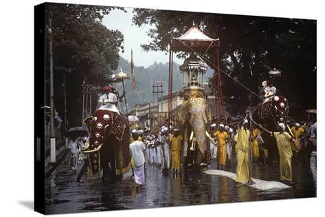 Esala Perahera Festival, Kandy, Sri Lanka--Stretched Canvas Print