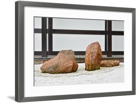 The Zen Garden at Zen Temple Ryumonji--Framed Art Print