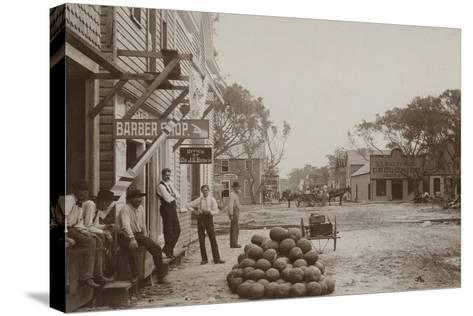 Miami Avenue Business District, 1896--Stretched Canvas Print