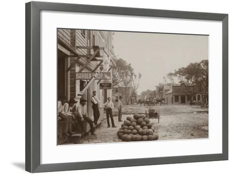Miami Avenue Business District, 1896--Framed Art Print