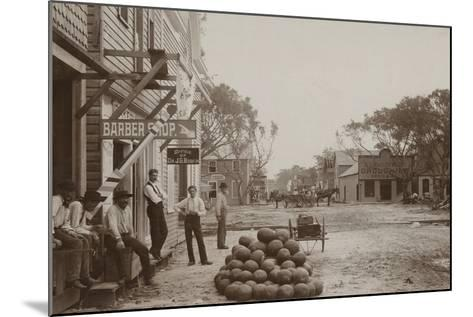 Miami Avenue Business District, 1896--Mounted Photographic Print