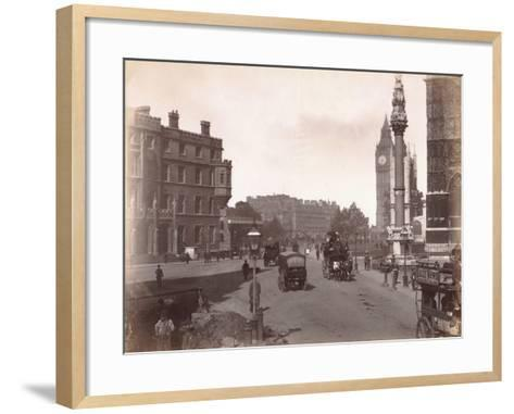 Parliament Square from Victoria Street, London, C.1885--Framed Art Print