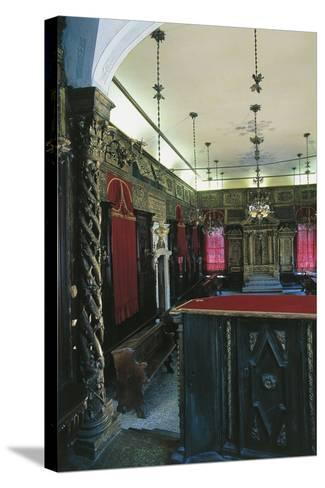 Interior of the Italian Synagogue, Venice--Stretched Canvas Print