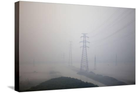 In Train Approaching Shanghai, China--Stretched Canvas Print