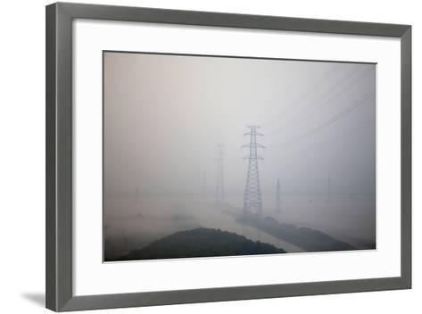In Train Approaching Shanghai, China--Framed Art Print