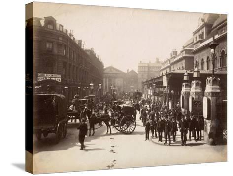Liverpool Street Station, London, C.1885--Stretched Canvas Print