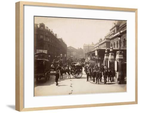 Liverpool Street Station, London, C.1885--Framed Art Print