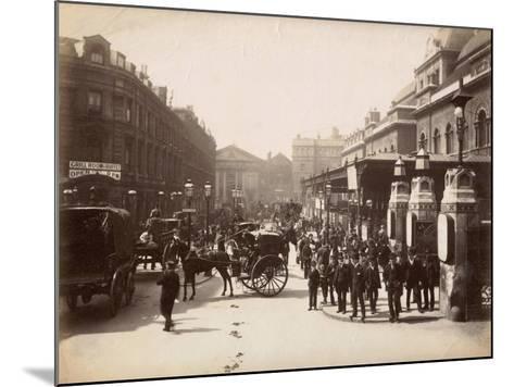 Liverpool Street Station, London, C.1885--Mounted Photographic Print