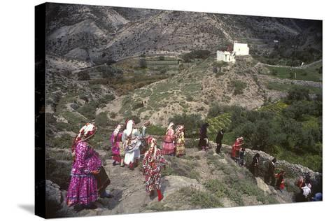 Easter Procession, Olymbos, Karpathos, Greece--Stretched Canvas Print