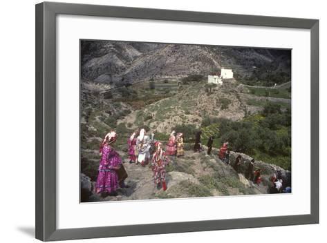Easter Procession, Olymbos, Karpathos, Greece--Framed Art Print