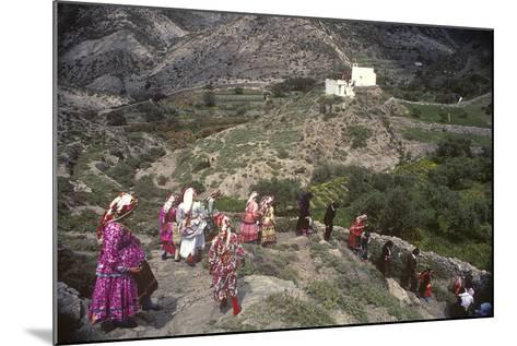 Easter Procession, Olymbos, Karpathos, Greece--Mounted Photographic Print