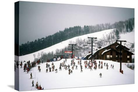 Cowboy Downhill Festival, Steamboat, Colorado--Stretched Canvas Print