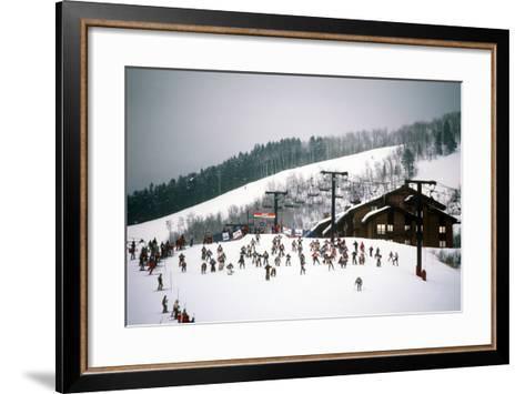 Cowboy Downhill Festival, Steamboat, Colorado--Framed Art Print