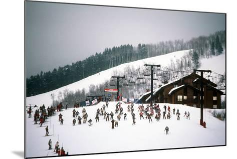 Cowboy Downhill Festival, Steamboat, Colorado--Mounted Photographic Print