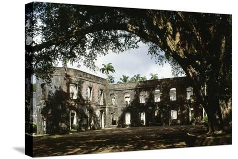 Ruins of Farley Hill House, Barbados--Stretched Canvas Print
