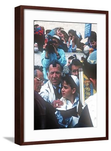 Bar Mitzvah, Wailing Wail, Jerusalem, Israel--Framed Art Print