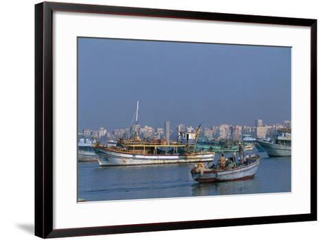 The Port of Alexandria, Egypt--Framed Art Print