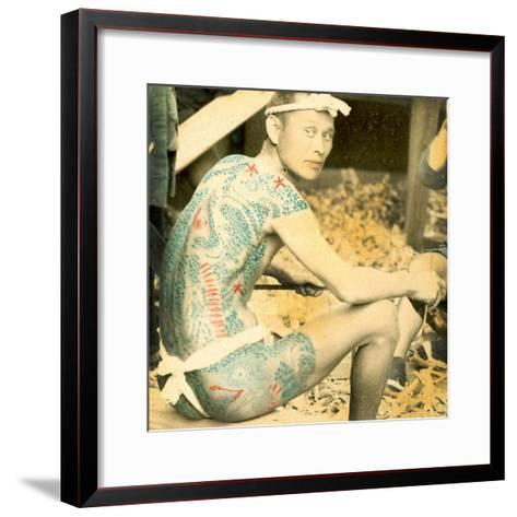 Tattooed Man, C.1880--Framed Art Print