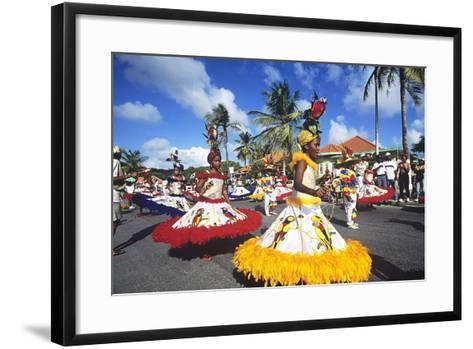 Children's Parade, Mardi Gras, Curacao, Caribbean--Framed Art Print
