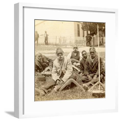 Aborigines, Melbourne, 1890--Framed Art Print