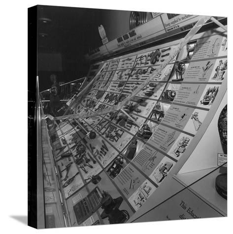 A Display Featuring Various Tools Ranging from Stone to Machine--Stretched Canvas Print