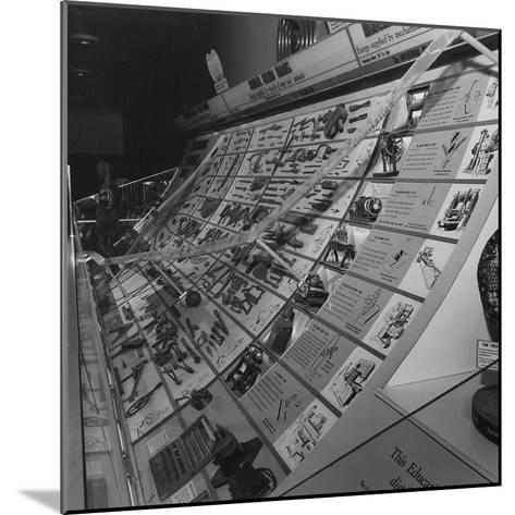 A Display Featuring Various Tools Ranging from Stone to Machine--Mounted Photographic Print