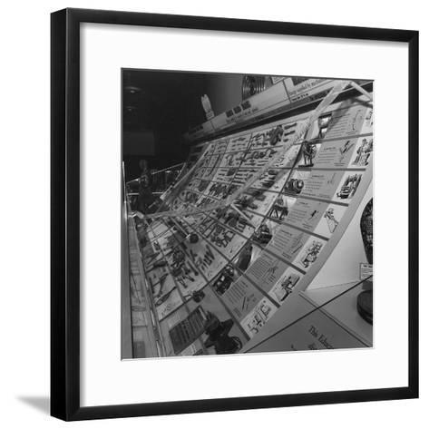 A Display Featuring Various Tools Ranging from Stone to Machine--Framed Art Print