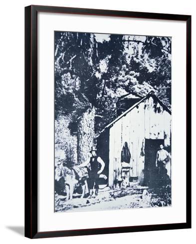 Prospectors at Clear Creek, Near Shasta, California, C.1849--Framed Art Print