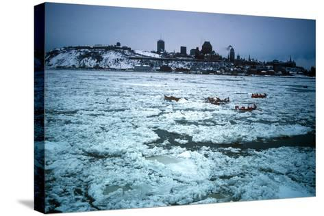 Winter Celebration, Quebec City, Quebec Province, Canada--Stretched Canvas Print