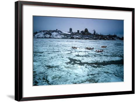 Winter Celebration, Quebec City, Quebec Province, Canada--Framed Art Print
