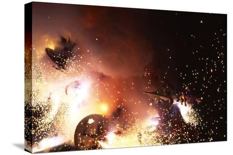 Fallas Celebration, Valencia, Levant, Spain--Stretched Canvas Print