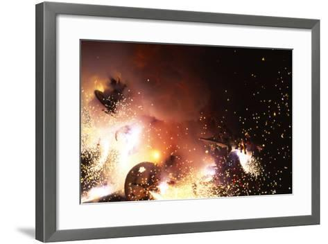 Fallas Celebration, Valencia, Levant, Spain--Framed Art Print